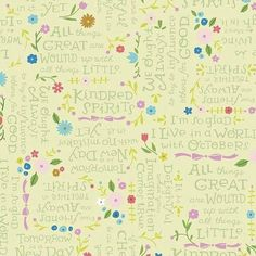Kindred Spirits by Anne of Green Gables Fabric Collection -Lt Green Quotes Fabric by Jill Howarth for Riley Blake - Priced by the Half Yard by RealStitchersofTexas on Etsy Kindred Spirits Quote, Green Quotes, Spirit Quotes, Thing 1, Anne Of Green Gables, Cotton Quilting Fabric, Riley Blake, Green Fabric, Green Quilt