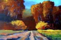 Autumn Trek Northwest Landscape Art by Nancy Merkle
