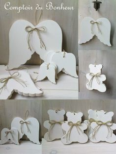 divers_oct10 Christmas Mood, Christmas Angels, Christmas Crafts, Christmas Decorations, Christmas Ornaments, Hobbies And Crafts, Diy And Crafts, Summer Deco, Wooden Crafts