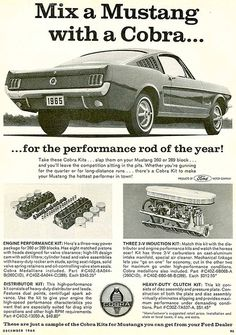 1965 Ford Mustang Cobra Kits advertisement