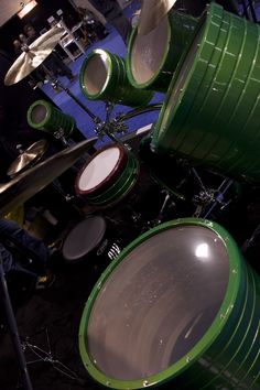 Rock Custom Drums displayed their custom hulk-like drum kit at NAMM
