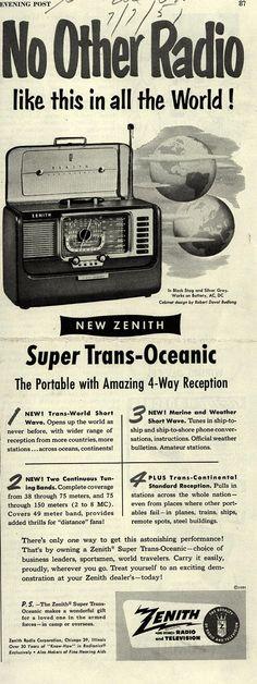 Vintage Zenith Radio Corporation Ad - 1951
