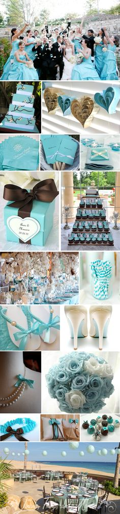 Aqua/Brown wedding inspiration