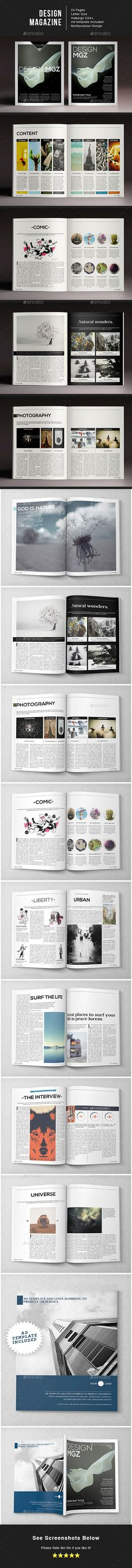 Design Magazine by LuuqasDesign Multipurpose magazine you can use in a lot of projects. Very easy to edit, just drop in your own images and texts, and its ready