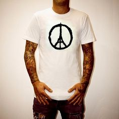 Stand With Paris T-shirt - For Sale on Etsy..   Unity Pray For Paris Terrorism ISIS Peace Eiffel Tower