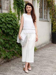 夏だからこそ楽しみたいホワイト・ウエディングの着こなし。「マリリンムーン」「ワ・ランス★★」デザイナー、中村法子さんのお呼ばれスタイルをご紹介。