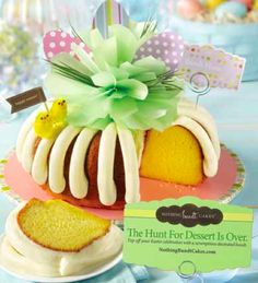 "Don't fret - the hunt for dessert is over! A ""Bundt Hunt"" hand-decoated cake from Nothing Bundt Cakes is the perfect centerpiece for your Easter table. #BundtHunt"