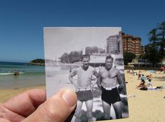 Manly beach, photographed today December and around The right hand figure in the small picture is my father, who would have been in his late twenties at the time. Old Pictures, Old Photos, Manly Beach, Australia Day, Manly Australia, Picture Places, Kodak Moment, Pinterest Images, Art Photography