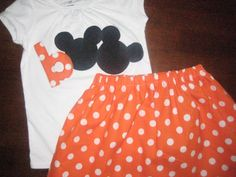 Halloween Disney Shirt and Skirt
