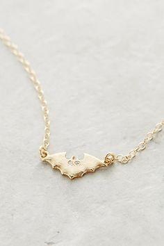 Diamond Bat Pendant Necklace - anthropologie.com