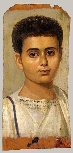 Portrait of a Boy, Egyptian, Roman period, c. 2nd century AD