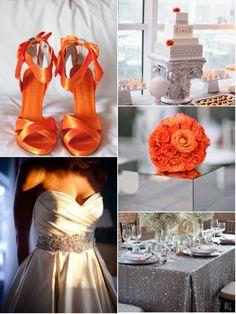 Pretty,pretty White and Tangerine Wedding Orange Wedding Themes, Tangerine Wedding, Wedding Colors, Orange Weddings, Color Inspiration, Wedding Inspiration, Dream Wedding, Wedding Day, Always A Bridesmaid