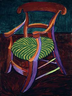 David Hockney First Gauguin's Chair, 1988 acrylic on canvas 48 x 36 in. x cm) Private collection David Hockney Artist, David Hockney Paintings, Painting Still Life, Paintings I Love, Edward Hopper, Robert Rauschenberg, Paul Klee, Pop Art Movement, B 13