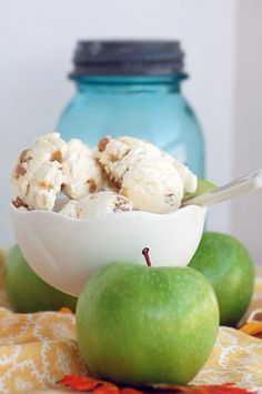 apple cider ice cream - Home - A Sweet Simple Life
