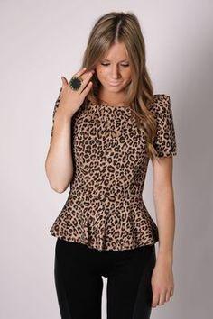 Esther Boutique Leopard Peplum on eBay!