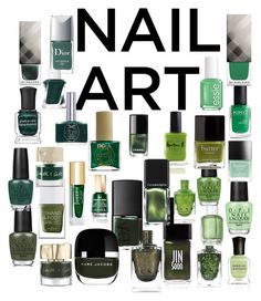 """Contest:Green wintery nail polish"" by dtlpinn on Polyvore featuring beauty, Essie, OPI, Mavala, Deborah Lippmann, Smith & Cult, Burberry, ncLA, Lauren B. Beauty and Liberty"