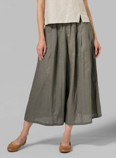 MISSY Clothing - Linen Pleated Culottes