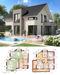 Fertighaus Concept-M 159 Bien Zenker - Modernes Haus mit Satteldach