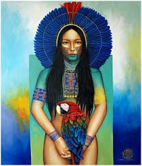Contemporary Art by Victor Crisostomo Gomez - ArtPeople. Native American Women, Native American Indians, Native American Paintings, Painting Collage, Indigenous Art, Visionary Art, Divine Feminine, Native Art, Native Indian