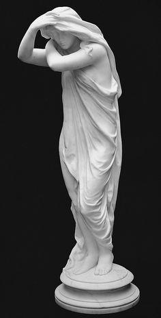 Crepúsculo Olin Levi Warner (1844-1896) Fecha: 1877-1878, ejecutado de 1879 Medio: Mármol Dimensiones: 34 1/2 x 10 1/2 x 11 pulgadas (87,6 x 26,7 x 27,9 cm) Clasificación: Escultura Línea de Crédito: Rogers Fondo de 1915 Número de acceso: 15.48