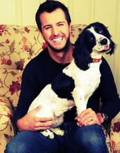 Luke & a puppy how perfect <3