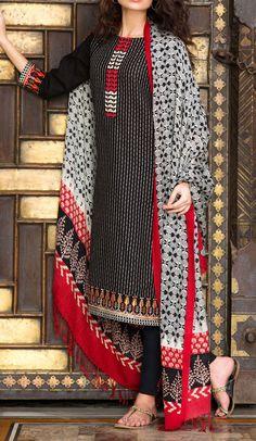 Buy Black Embroidered Khaddar Salwar Kameez by Khaadi 2015 Call: (702) 751-3523 Email: Info@PakRobe.com www.pakrobe.com #WINTER #SALWAR #KAMEEZ https://www.pakrobe.com/Women/Clothing/Buy-Winter-Salwar-Kameez-Online