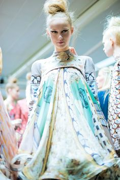 Digital Print - Mary Katrantzou Womenswear A/W12 | Dazed.  creating original imagery on either a CAD program or even by hand and scanning it into a file, you can create beautiful luxury and rich coloured fabrics all by putting it through the digital printer.  REPORT ON THIS PIN