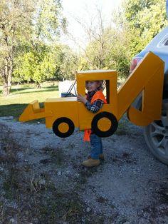 Kids Halloween costume. Backhoe costume.