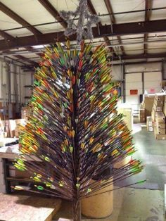 That's my kind of Christmas tree! Activated illuminated knocks would make it even cooler.
