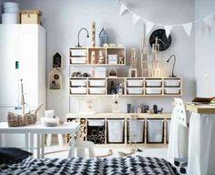 idées en images pour meuble de rangement de chambre d'enfant en bois et mobilier Ikea