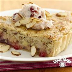 #Cherry #Almond Brunch Tart from Eagle Brand®