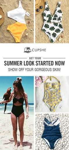 Start to shine~ These flattery swimwears are chic must-have of the year! Your perfect option for a hot summer vacation! Listen! The sea is calling! Get our fantastic one-pieces ready with you at Cupshe.com !