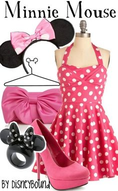 3. Minnie Mouse Outfit (I actually have this dress!) #momselect #NewFantasyland