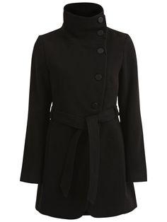 FEMININE COAT, Black