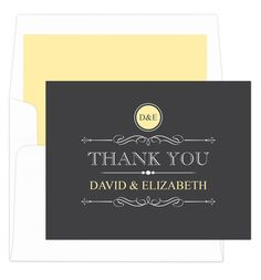 Lemon Vintage Thank You Note Cards