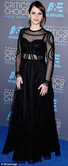 Felicity Jones at the Critics' Choice Movie Awards
