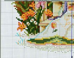 """""""Delightful Daffodils ~ Quilts From The Garden"""" a cross stitch design by Paula Vaughan. Saved from gabka.gallery.ru"""