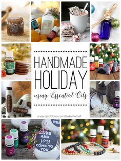 Lots of great Handmade Holiday gift ideas using Essential Oils, perfect for teachers, friends, family, and coworkers! from One Project Closer