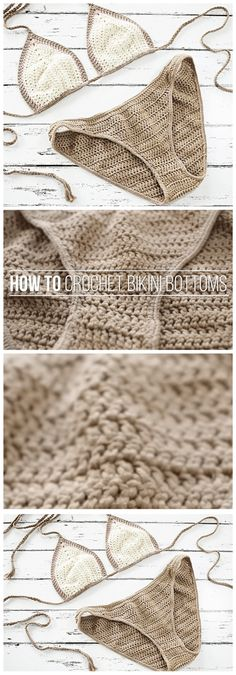 Today I want to share crochet bikini pattern. Sunny days are on it's way so prepare for it and make fancy crochet bikini by yourself. Materials used: yarn, round elastic cord, crochet hooks (3.25&2.00 mm), yarn needle and scissors. So as you see you won't need any professional materials for this project. Making crochet bikini is very simple and even crochet beginners can make it!