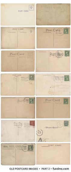 free printable - vintage post cards by JeanBean11