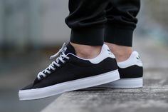 "sweetsoles: ""Adidas Stan Smith Vulc - Core Black (by Titolo) Buy from Adidas US "" Casual Sneakers, Casual Shoes, Shoes Sneakers, Mens Fashion Shoes, Sneakers Fashion, Sneaker Magazine, Black And White Man, Reebok, Shoes Outlet"
