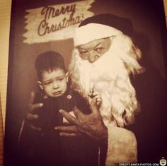"""There is definitely a Disney Villain-esque look to this Santa: 