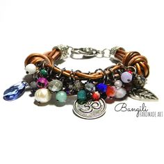 Leather Chime Silver Bracelet