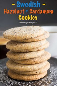 Looking for something different for your afternoon coffee or tea? Give these Swedish cookies a try! 'Hazelnut & Cardamom Cookies' will surely satisfy your sweet tooth! Gourmet Recipes, Cookie Recipes, Dessert Recipes, Bakery Recipes, Swedish Recipes, Sweet Recipes, Swedish Foods, Swedish Fish, Swedish Cookies