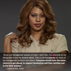 """""""Orange is the New Black"""" Actor Laverne Cox Speaks Out for Transgender Workplace Protections #ENDA"""