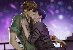 The fireworks WERE a pretty atmosphere for a kiss. Dammit, Nagisa, why did you interrupt them?