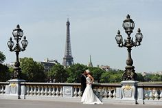 Paris wedding just bride & groom. Intimate