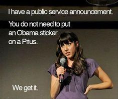 This is only funny because I'm from KY, where people put Mitt Romney stickers on their Prius. No joke.
