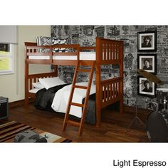 @Overstock - Mission Tilt Ladder Twin Bunk Bed - If you are looking to save space, this beautifully designed bunk bed is a great addition to any bedroom. It's sleek design makes it a great fit for any bedroom.  http://www.overstock.com/Home-Garden/Mission-Tilt-Ladder-Twin-Bunk-Bed/8701025/product.html?CID=214117 $492.99