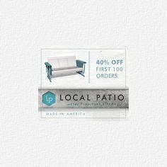 Local patio's first production run sale #vintageMetalGlider